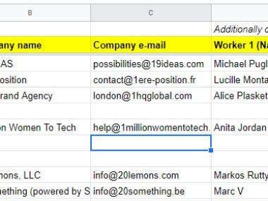 Targeted Email List Building