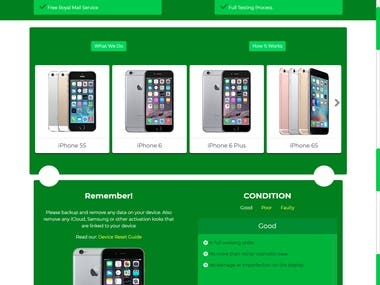 Mobile Recycling System UK (Responsive Web Design)