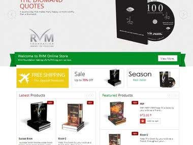 Ecommerce Online Store of RVM Foundation