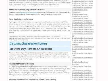 A&M flowers 4 month - Wordpress SEO