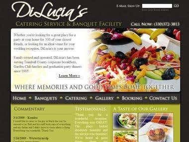 Client site: Dilucias Catering