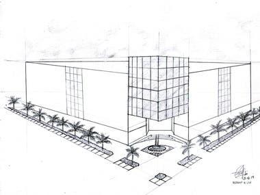 Hand Sketch Building