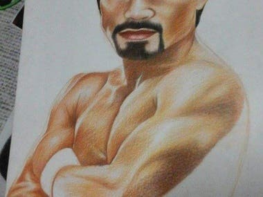 Hand Sketch Drawing of Manny Pacquiao