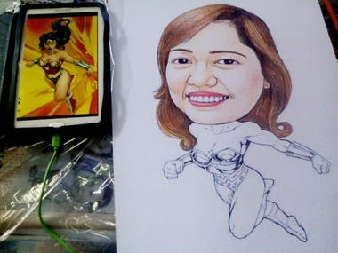 Freehand Drawing caricature