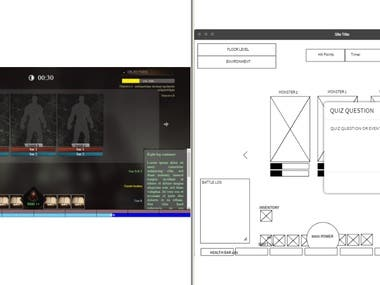 CSS, HTML & JS Layout for online WebBased Game