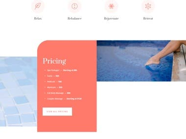 Spa Website project.