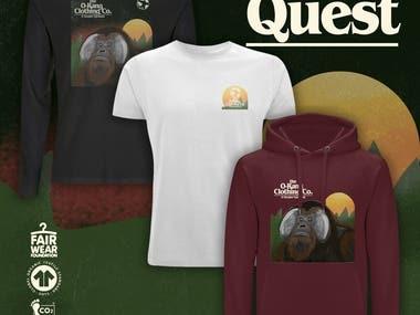 Garment Print - 'The Quest'