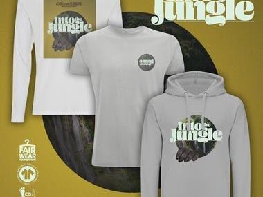 Garment Print - 'Into The Jungle'