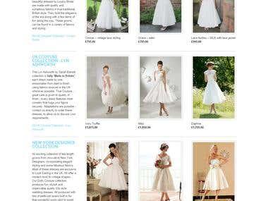 Wedding Dresses Store based on wordpress with jigoshop.