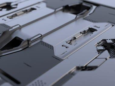 Sci-Fi Panel 3D model