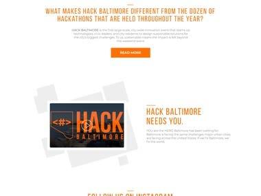 Hackathon Website Design