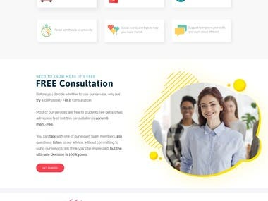 ustudy Website design