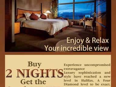 Hotel flyer design