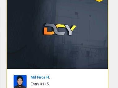 DCY Typography logo design