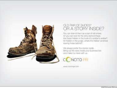 Concito PR print design