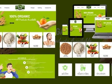 Global Organic website design and development