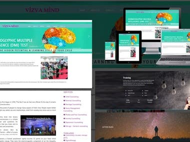 Vizva mind Website design and development