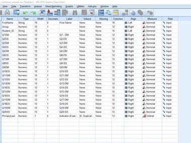 Survey analysis using SPSS