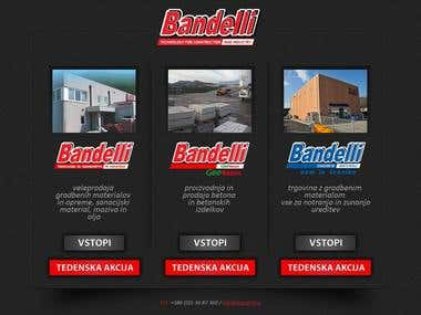 Website www.bandelli.si