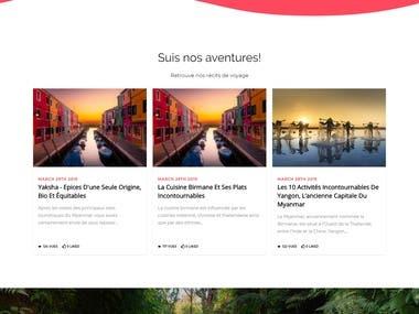 eCommerce website with recepies.