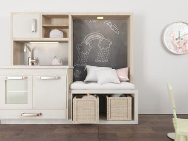 kitchen design for kid