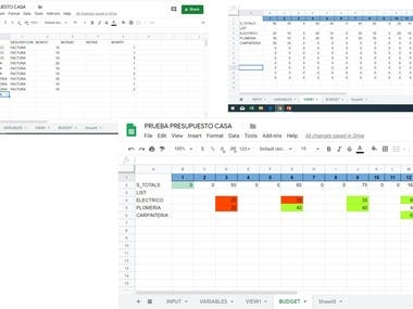 Google Sheets (script) Home / Bussines budget generator