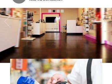 Responsive  Mobile Website with Store Locator