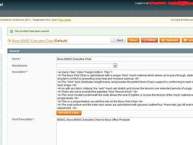 Magento Products Entry