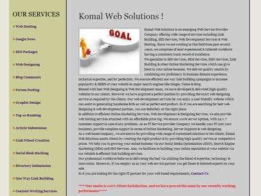 Link Building, seo, web designing, web hosting.