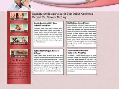 Dental hospital website design