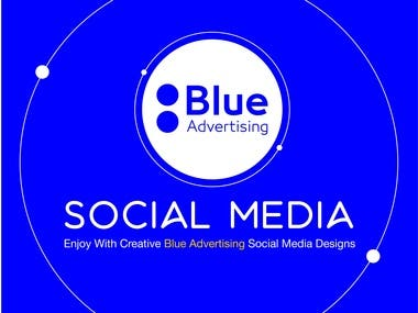 Soical Media Blue