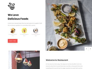 Restaurant Web Application Design Develop