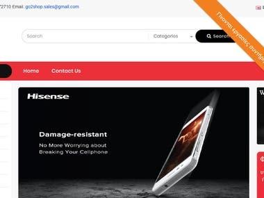 Open Cart responsive website