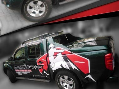 Pickup vynil wrap for a Enduro business company