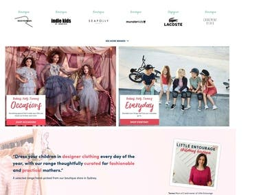 Children Designer Clothing - Ecommerce Platform