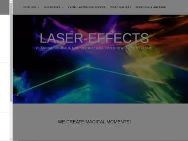 Webdesign for Laser-Effects