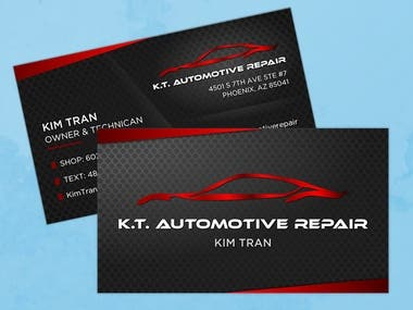 KT Automotive Repair Business Card