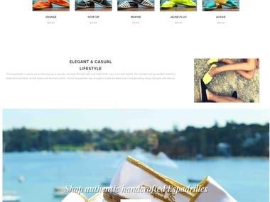 Website E-Commerce Re-design