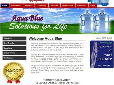 HTML Website for Mineral Water Manufacturer Company - UAE