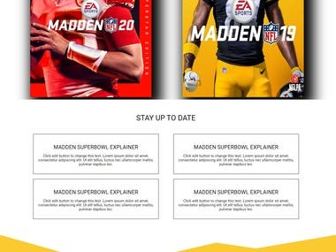 Madden Override game landing page