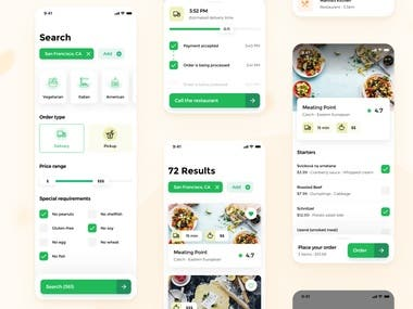 Delivery Food App(react native, laravel, react.js)