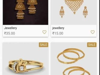 Harshikaa Jewellers eCommerce mob app development