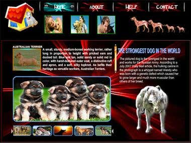 My Pet Flash Website