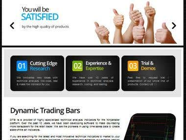 HTML5 Website for Trading Bar Business - USA