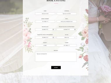 Mockup for bridal web
