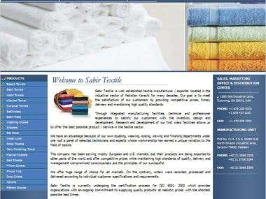 Complete HTML Website for a Textile Company - USA/Pakistan