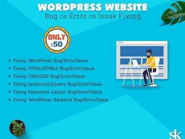 Fix wordpress bugs, issues or errors