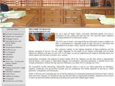 A HTML Website development for a LAW Firm - Pakistan