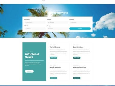 Travel and tour website designs Mock ups