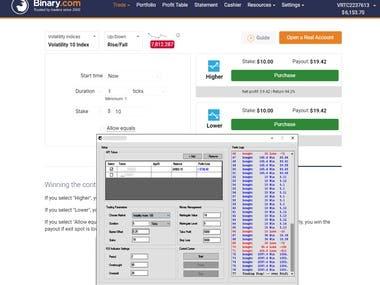 Auto Trading Bot for Binary.com